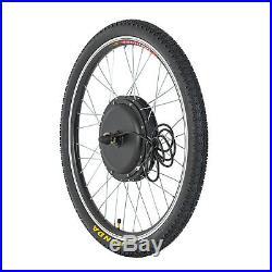 48V 1000W 26'' Front Wheel Electric Bicycle E-bike Kit Conversion Cycling Motor