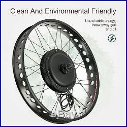 48V 1000W 26 Front Wheel with LCD Electric Bicycle E-bike Kit Conversion Fat Tire