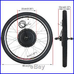 48V 1000W 26'' Rear Wheel E-bike Electric Bicycle Kit Conversion Cycling Motor