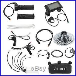 48V 1000W Electric Bicycle Conversion Kit 26 EBike Rear Wheel LCD Meter