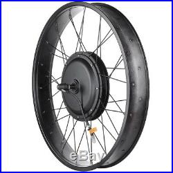 48V 1000W Front Fat Tire Electric Bike eBike Conversion Kit 26/3 1/4 Width Rim