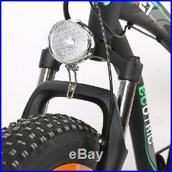 48V 1000W Hammer Electric Fat Tire Bike Beach Snow Road Bicycle Ebike Black