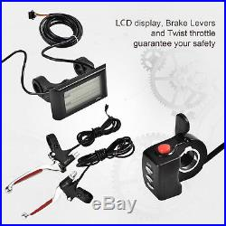 48V 1000W Rear Wheel Electric Bicycle E-Bike Kit Conversion Motor Cycling withLCD