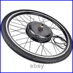 48V 1000With1500W Electric Bicycle EBike 26 Front Rear Wheel Motor Conversion Kit