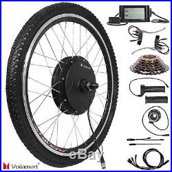 48V 1500W Rear Wheel Electric Bicycle Motor Conversion Kit E Bike Cycling with LCD