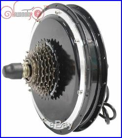 48V 1500W Threaded Ebike Brushless Gearless Rear Hub Motor Electric Bicycle