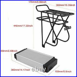 48V 15Ah Ebike Electric Battery Lithium Li-ion Rear Rack for 1000W Bicycle Motor