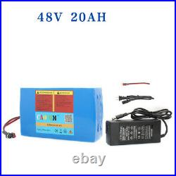 48V 20AH Li-ion Battery 750W 1000W EBike E Bike Scooter Electric Bicycle Charger
