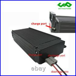 48V 20Ah 1500W LED Rear Rack Carrier E-bike Li-ion Battery for Electric Bicycles