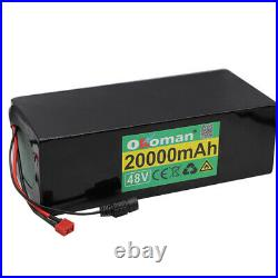 48V 20Ah rechargeable li-ion battery pack fit for bicycle 1200W E BIke electric