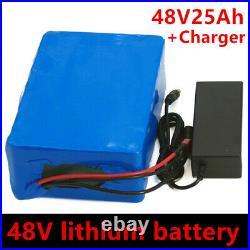 48V 25AH Li-ion Battery Volt Rechargeable Bicycle 1000W E Bike Electric Li-ion