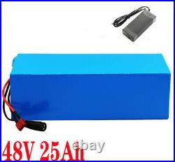 48V 25Ah Lithium Ion Pack Ebike Battery for 1000W Electric Bicycle Motor