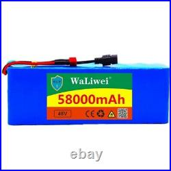 48V 58Ah 1000w 13S3P 48V ion Battery Pack For 54.6v E-bike Electric bicycle