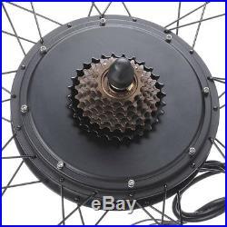 48V1000W 26 Rear Wheel Electric Bicycle Motor Kit E-Bike Cycling Hub Conversion