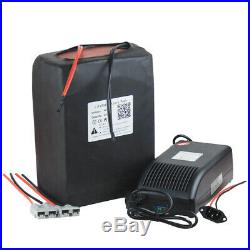 48V25AH Liithium Battery Pack for 1500W E-bike Scooter With 5A Charger