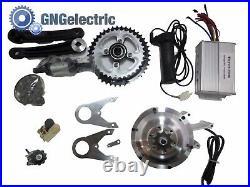 48V400W BRUSHLESS (Gear) MID DRIVE ELECTRIC MOTORIZED E BIKE CONVERSION KIT