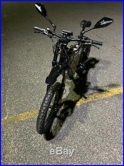5000with72v Electric Bicycle Scooter Ebike Mountain Bike Super Fast 85km/h Bomber