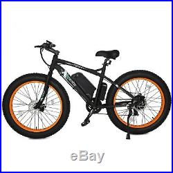 500W 36V Electric Bike eBike Snow Cruiser Bicycle 7 Gears Cycling 4.0 Fat Tire