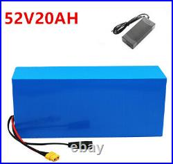 52V 20Ah Lithium Ion Pack Ebike Battery for 1000W Electric Bicycle Motor