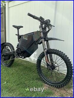 65+mph! Fast Electric Enduro Bicycle Ebike Bomber Recon Eagle 72v Surron