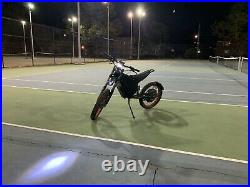 70MPH Bolt Electric Motorcycle ebike Mountain Bike 12000w 72v 48aH Battery