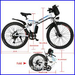 ANCHEER 26INCH Folding Electric Bike Mountain Bicycle, City Ebike Shimano 21Speed