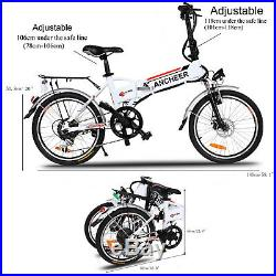 ANCHEER Foldable Electric Mountain Bike Cycling 36V 20 Fat E-Bike City Bicycle