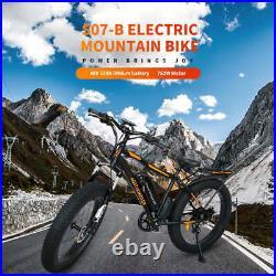 AOSTIRMOTOR Electric Mountain Bicycle 750W 48V/13A Li-Battery 26 Fat Tire Ebike
