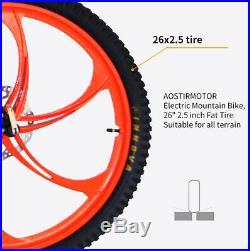 AOSTIRMOTOR Electric Mountain Bike, 262.5 EBike 48V 11.6AH 500W MTB S05-1