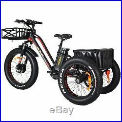 Addmotor MOTAN M350 P7 Electric Trike Tricycle 750W 24Fat Tire 3 Wheel E-bike