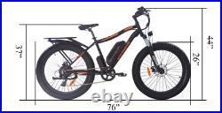 AostirMotors eBike 600 W Battery, 750 W Motor, 26 Fat Tire- Electric Bicycle