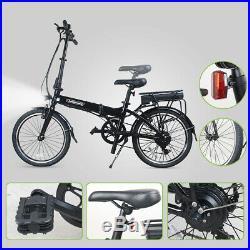 Bikemate 20 Inch Folding Electric Moped Bike MTB 250W 25KM/H Up to 31Miles eBike