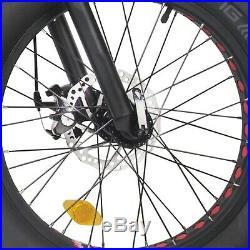Black Folding Electric Fat Tire Bike Beach Bicycle City Ebike 20 48V 13AH 500W