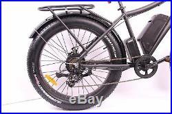 Breeze Pro Fat Tire Electric Mountain Hunting Bike, eBike 750W, 48V Matte Black
