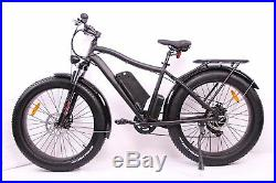 Breeze Pro Fat Tire Electric Mountain Snow Bike, eBike 750W, 48V Matte Black