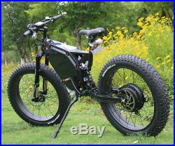C&E Stealth Bomber 5000with72v Fat Tire Electric Scooter Beach Mountain Ebike FAST