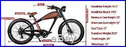 CIVIBIKES 48V 750W Bafang CHEETAH E-Bike Beach Cruiser Electric Bicycle
