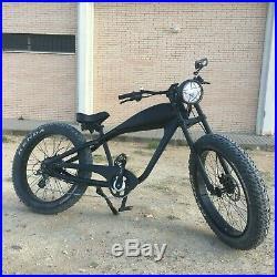 COOLER KING 500W Custom Made Fat Tyre eBike, 7 gears, 31-60km range, 45km/h 48V