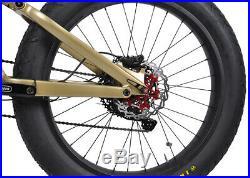 Carbon Fat Bike Electric Bicycle 28mph Ebike Bafang Shimano MTB Suspension 26er