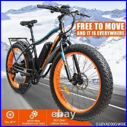E-Bike 26'' Electric Mountain Bike Bicycle Shimano 36V Lithium Battery 500W New