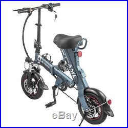 EBike 250W Mini Folding Electric Bike/Scooter with 36V 12Ah Lithium Battery Gray