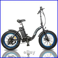 ECOTRIC 20 500W 12.5Ah Folding Electric Bicycle e-Bike Fat tire 7 Speed
