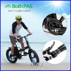 ECOTRIC 20 500W 12Ah Folding Electric Bicycle e-Bike Fat tire Pedal Assist New