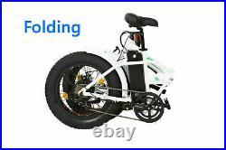 ECOTRIC 20 Folding e-bike WHITE Mountain Beach City Fat Tire Electric Bicycle
