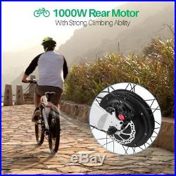 ECOTRIC 261000W 48V Mountain Electric Bicycle e-Bike Pedal assist withSuspension