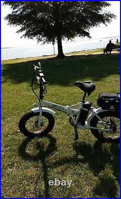 ECOTRIC Folding 20 500W 36V Electric Bicycle Fat Tire Beach Snow City E-Bike