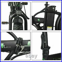 ECOTRIC Folding Electric Bicycle 20 Fat Tire 48V 12.5AH 500W Beach City Ebike