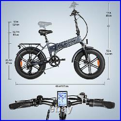 ENGWE 20 500W Folding Electric Mountain Bicycle 48V Adults Fat Tire Snow E-Bike