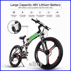 ENGWE eBike 48V Folding Electric Mountain Bike with 21 Speed and Duel Disc Brake