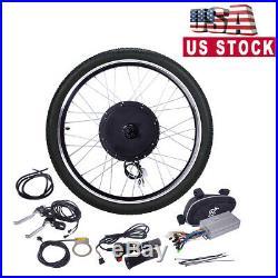 Electric Bicycle 26 48V 1000W Ebike Front Wheel Motor Conversion Kit Motor Hub